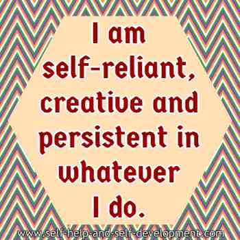 Self talk for being self-reliant, creative and persistent.