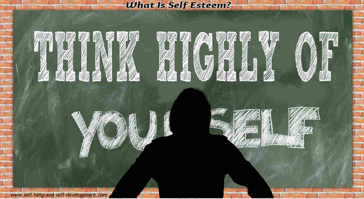 Image showing one of the definitions of self esteem - thinking highly about oneself.