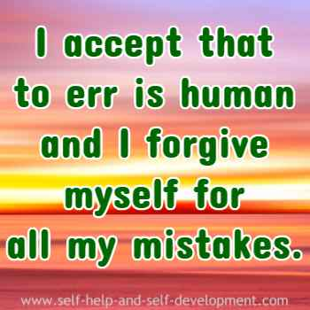 Inspiration for forgiving the self.