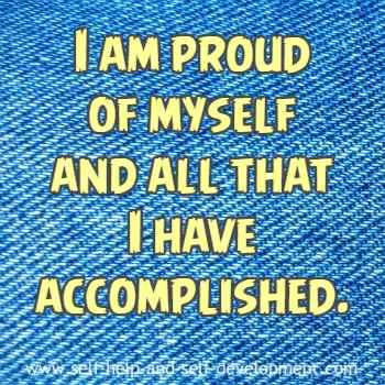 Inspiration for self pride and accomplishment.