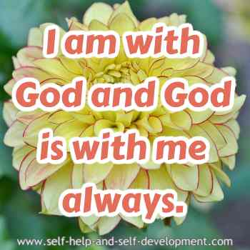 Self talk for always being in the company of God.