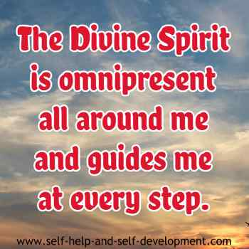 Self talk for constant guidance of the omnipresent divine spirit.