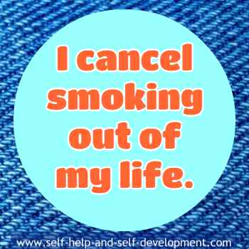 Self talk for deleting smoking from life.