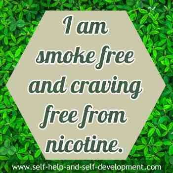 Self talk for being smoke free and craving free from nicotine.