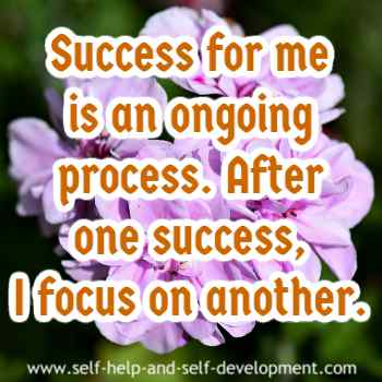 Self talk for focusing on continual success.