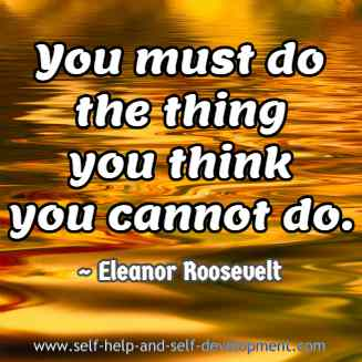 Quotation by Eleanor Roosevelt.