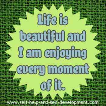 Self talk for a beautiful life.