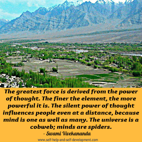 Thought Quote: The greatest force is derived from...