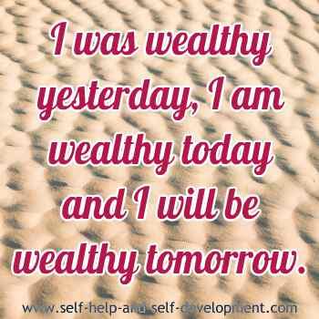 Self talk for eternal wealth.