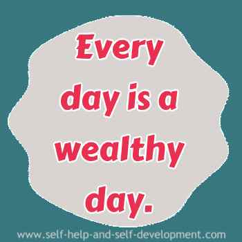 Self talk for daily wealth.