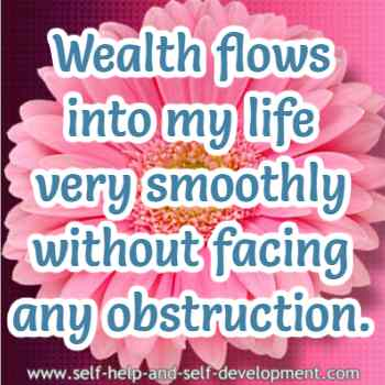 Self talk for wealth flowing into your life smoothly.