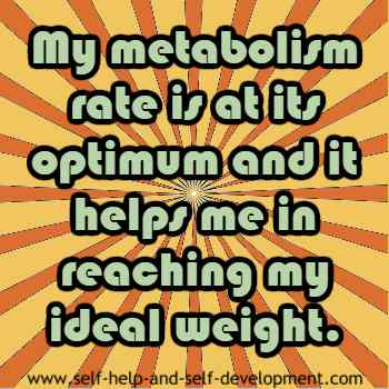 Inspiration for optimum metabolism for ideal weight.