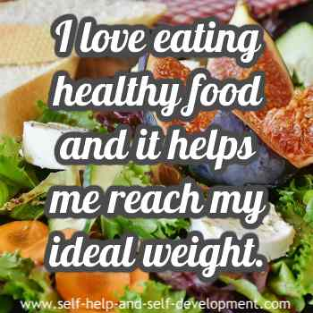 Inspiration for eating healthy food for ideal weight.