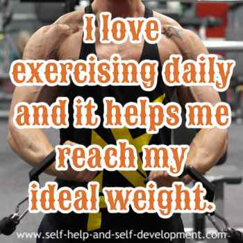 Inspiration for exercising daily for ideal weight.